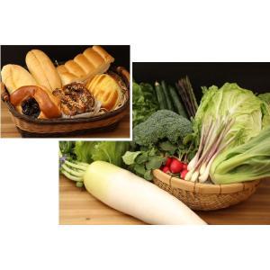 地元産野菜とパン 徳用セット ※別途送料800円かかります、クール便でお届け|eco-shop-motegi