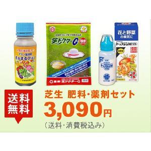 芝生 肥料・薬剤セット-TM9・高麗芝用 (まるまるアミノ332/芝ドクターG/トップジンMゾル)の画像