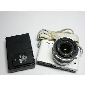 美品 Nikon 1 J1 標準ズームレンズキット ホワイト...