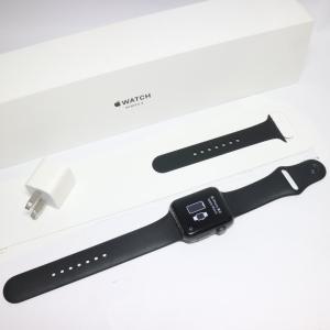 美品 Apple Watch series3 42mm GPSモデル スペースグレイ スマホ 安心保...