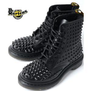 Dr.Martens 8 EYE BOOT スタッズドクターマーチン  8ホール ブーツ BLACK/ブラック|eco-styles-honey