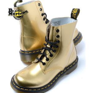 Dr.Martens PASCAL 8HOLE BOOT GOLD ドクターマーチン パスカル 8ホール ブーツ ゴールド|eco-styles-honey