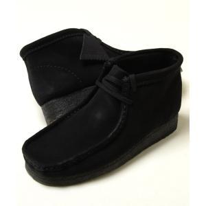 CLARKS WALLABEE BOOT クラークス ワラビー ブーツ ブラック スエード メンズ ブーツ シュー 33281|eco-styles-honey
