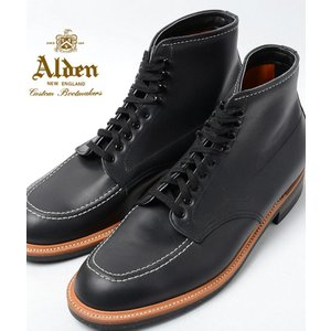 Alden Men's Indy Boot High Top Blucher Workboot Style#:401★オールデン インディーブーツ ブラック ★本革 シューズ★|eco-styles-honey