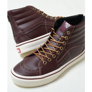VANS V38LITE WB SK-8 HI WB バンズ V38LITE WB スケートハイ レッドブラウン メンズ スニーカー ブーツ 580672-0002|eco-styles-honey