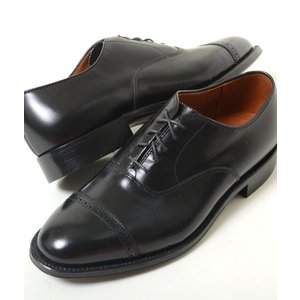 Alden Style 901 Perforated Straight Tip Bal Calfskin パーフォレーテッド キャップトゥ バル カーフスキン メンズ ブラック 901|eco-styles-honey