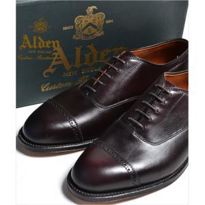 ALDEN #905 オールデン ストレートチップ(CAP TOE)Perforated Straight Tip Bal Calfskin ハンプトンラスト カーフ 本革 シューズ|eco-styles-honey