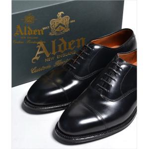 ALDEN #907 オールデン ストレートチップ(CAP TOE) カーフスキン Straight Tip Bal Calfskin オールデン 本革 シューズ|eco-styles-honey