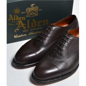 ALDEN 920 オールデン ストレートチップ(CAP TOE)Perforated Straight Tip Bal Calfskin ハンプトンラスト カーフ 本革 シューズ 本革 シュー|eco-styles-honey