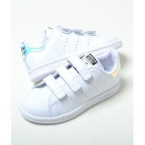 【17cm-21.5cm】STAN SMITH CF C アディダス スタンスミス CF C ホワイト キッズ ベビー kids baby スニーカー 子供靴 aq6273 eco-styles-honey