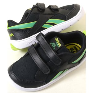 【12cm-16cm】Reebok Ventureflex Chase I リーボック ベンチャーフレックス チェイス II ブラック ベビー baby キッズ kids スニーカー 子供靴 bd3663 eco-styles-honey