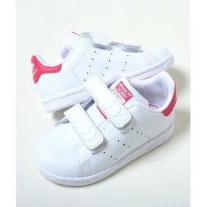 【12cm-16.5cm】STAN SMITH CF I アディダス スタンスミス CF I ホワイト×ピンク キッズ ベビー kids baby スニーカー 子供靴 bz0523 eco-styles-honey