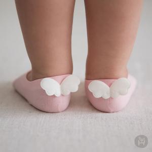 ベビーソックス ベビー靴下 靴下 子供用くつ下 HAPPY PRINCE  天使 ホワイト ピンク ミントグリーン ベビー baby KIDS キッズ 子供服  お出かけ セレモニー 結婚 eco-styles-honey