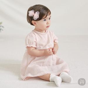 子供服 ベビー服 ワンピース HAPPY PRINCE ピンク ベビー KIDS キッズ お出かけ 発表会 結婚式 コットン100% 1歳 2歳 女の子 シンプル 上品 フォーマル カジュ eco-styles-honey