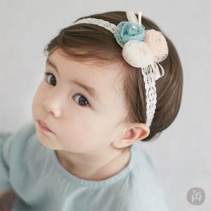 ヘアバンド レース リボン お花 HAPPY PRINCE ヘッドアクセサリー ベビー  baby KIDS キッズ 子供服  お出かけ 結婚式 1歳 誕生日 プレゼント eco-styles-honey