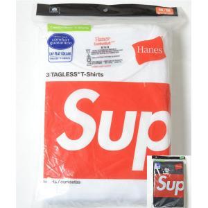 SUPREME/Hanes Tagless Tees(3Pa...