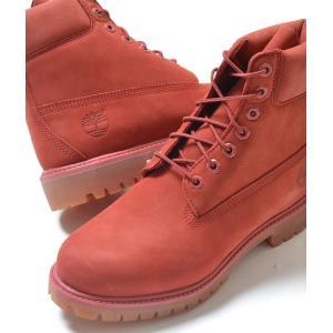 Timberland 6INCH PREM BOOT ティンバーランド 6インチ プレミアムブーツ 赤レンガ色 メンズ ブーツ tb0a1fxw|eco-styles-honey