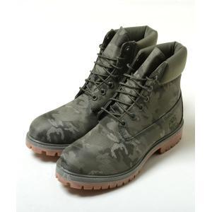 Timberland 6INCH PREM FAB BT ティンバーランド 6インチ プレミアム ファブリック ブーツ ダークグリーン カモ メンズ ブーツ tb0a1u9i|eco-styles-honey