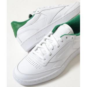 Reebok CLUB C 85 EL リーボック クラブ C 85 EL ホワイト×グリーン メンズ スニーカー|eco-styles-honey