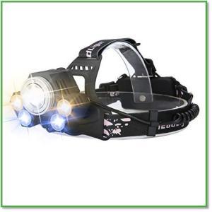 動画紹介 LEDヘッドライト 超高輝度 充電式 5灯式 5段階 汚れを見やすい青い光 SOSフラッシュ 0001|eco2