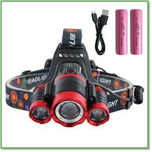 LEDヘッドライト 充電式 手をかざして点灯 ジェスチャー 実用点灯4.5-8時間18650電池付属 0002|eco2