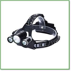 動画紹介 LEDヘッドランプ高輝度4モード 自転車ライトSOSフラッシュ防水 軽量 高輝度 USB 登山 釣り キャンプ 0003|eco2