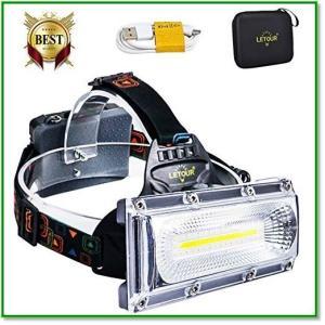 ヘッドライトハイパワーCOB最も明るいLEDヘッドランプ防水, 2照明モード+レッド ブルー・ストローブ 0013|eco2