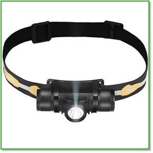 LEDヘッドライト 超軽量 充電簡単 バッテリー2200A USB充電式 IPX6防水仕様 90°調整 0014|eco2