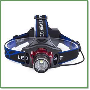 led ヘッドライト 3000ルーメン 充電式 LED ヘッドランプ 防水 軽量 ズーム機能 0015|eco2