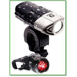 自転車ライト防水USB充電式明るいLED前照灯日本語説明書簡単取付高輝度軽量コンパクト 0030 eco2