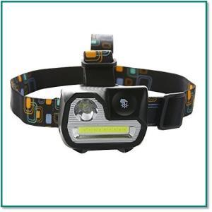LEDヘッドライト超強力スポットライト センサー機能明るさ200ルーメン5点灯モード電池式防水 角度調整 0037|eco2