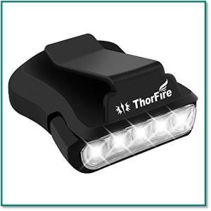 ヘッドライトLEDキャップライト超高輝度 5LED 30ルーメン  連続点灯24時間 帽子に挟んむだけ 夜釣り 0042|eco2