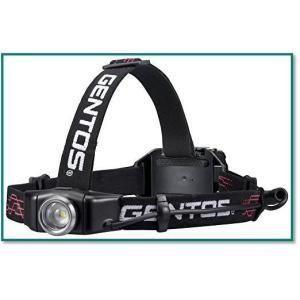 ジェントスLEDヘッドライトUSB充電式 300ルーメン 実用点灯6時間 耐水 GH-001RG 0044|eco2