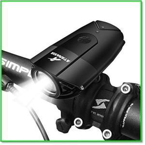 自転車ライト 改良版 1200ルーメン2000mahIP65防水テールライト付きUSB充電式ブラック 0094 eco2