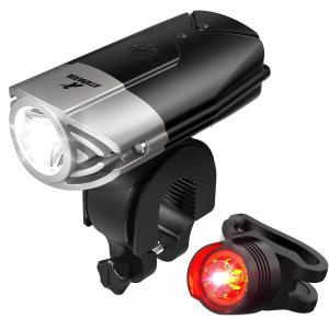 自転車ライト 改良版 1200ルーメン2000mahIP65防水テールライト付きUSB充電式シルバー 0095 eco2