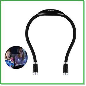 ネックライトウォーキングライト夜間首掛け式LED懐中電灯角度調整可能調光可能USB充電フレキシブル 0108 eco2