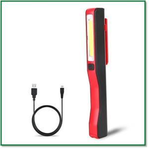 LED作業灯 ワークライトledハンディライトマグネット付きUSB充電式強力COB夜間作業 0194|eco2