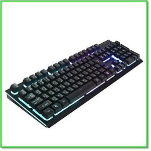 ゲームキーボード日本語配列usbキーボードLEDバックライト1680万色RGB防水26キー防衝突 0554|eco2