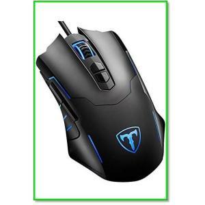 ゲーマーマウス光学式LEDライトマウス5段階DPI調整可能7ボタンカスタマイズマクロ設定可能省電力軽量ブラック 0560|eco2