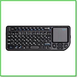 ミニキーボードワイヤレス2.4GHzタッチパッド搭載超小型日本語JIS配列 72キー 無線USBレシーバー付き 0567|eco2