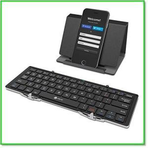 Bluetoothキーボード折りたたみ式レザーケーススタンド付きiPhoneiPadAndroidMac対応 0570|eco2