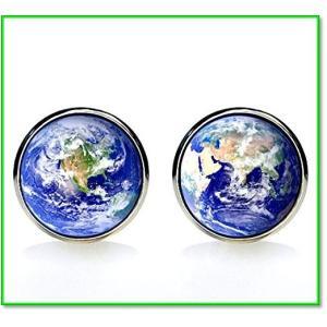 地球儀世界地図ラウンドカフス[専用BOX付き] 0677|eco2