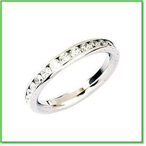 フルエタニティリング指輪アレルギーフリーステンレスSS316Lペアリング男女兼用 10号  0695|eco2
