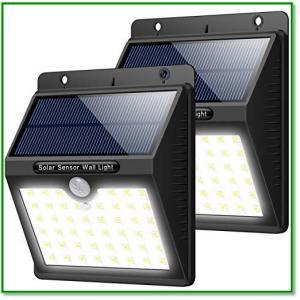 センサーライト ソーラー 人感 46LED 屋外 照明 防犯 防水 LED 3つ知能モード 太陽光 玄関 1358 eco2