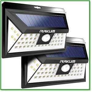 センサーライト ソーラーライト 屋外 人感センサー 48LED 自動点灯 防水 三面発 広角照明 外灯庭玄関灯 1359 eco2