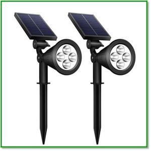 ソーラーライト IP65防水 光センサー 夜間自動点灯 5つ点灯モード 玄関 庭 駐車場 芝生 防犯対策 1363 eco2