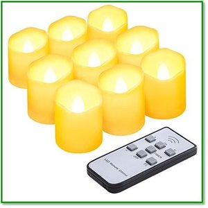 LEDキャンドル 電気ろうそく 無香料 明るさ調節タイマー機能 リモコン対応 点滅仕様 室内飾り 1364 eco2