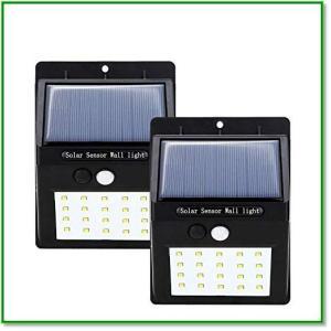 ソーラーライト 暖色系 両面テープ付 人感ボタン付き 屋外照明 防犯 防水 太陽光発電 1370 eco2
