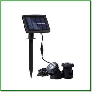 ソーラー 屋外スポットライト 水中 LED IP68防水 太陽光発電 防犯 自動点灯消灯 池 玄関先 庭 歩道 1381 eco2