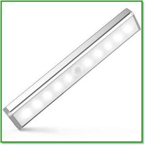 人感センサー LEDライト USB充電式 マグネット付 貼り付け型 玄関 階段 寝室 赤ちゃん室 押し入れ 1390 eco2